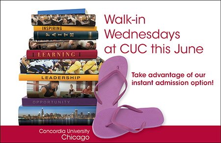 Walk-in Wednesdays JUNE postcard cover