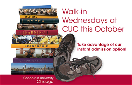 Walk-in Wednesdays October postcard image